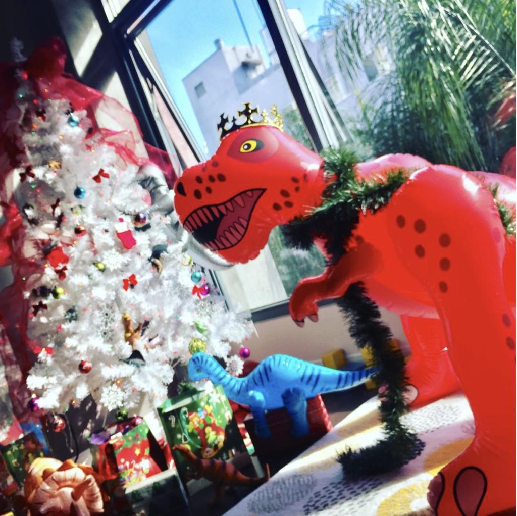 dinosaur christmas tradition decoration