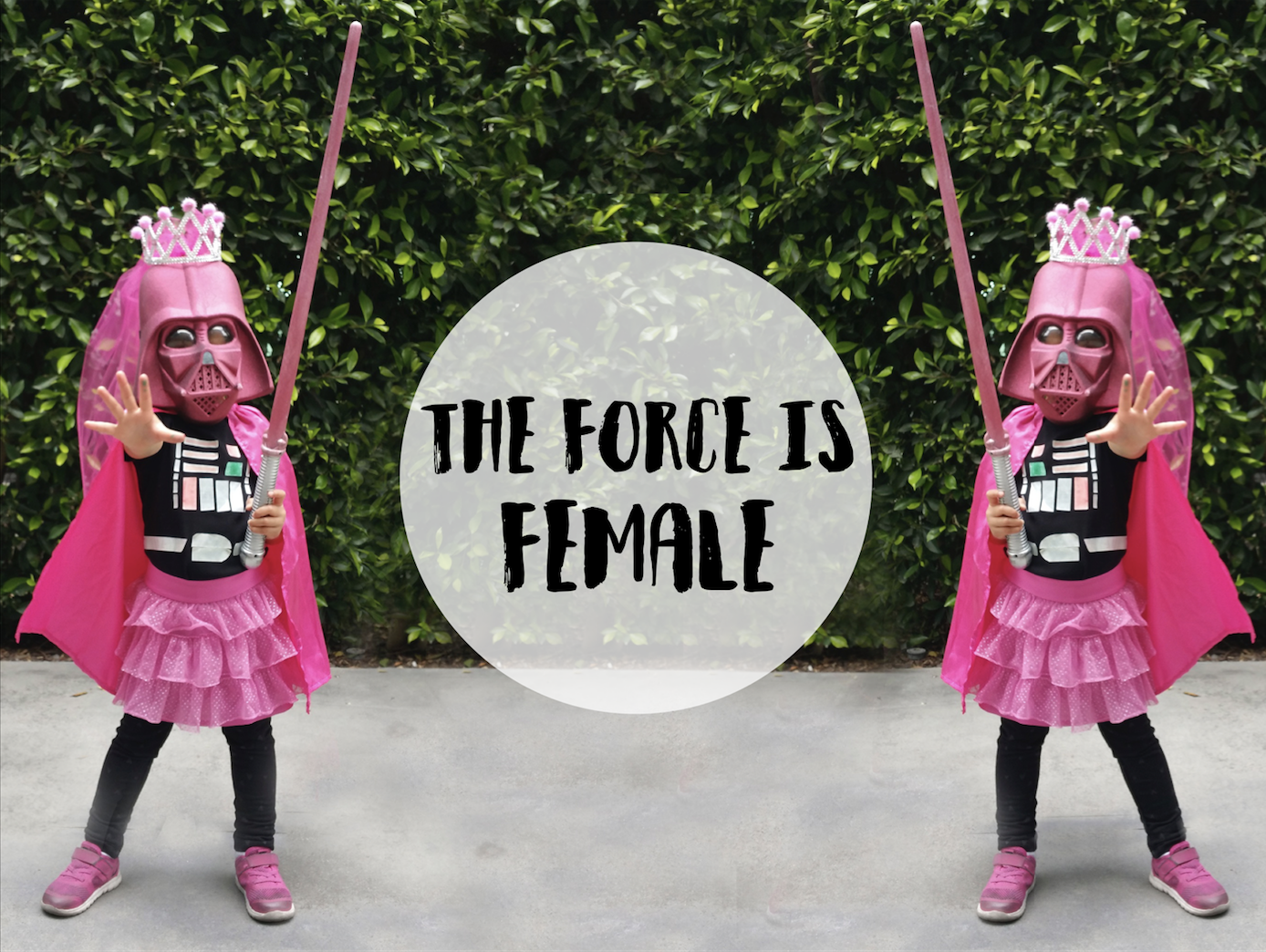 Star Wars Pink Darth Vader Princess DIY Costume Adorable Creative Fun