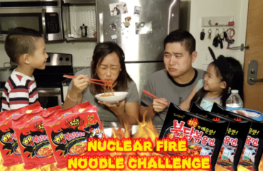 Nuclear Fire Noode Ramen Challenge Samyang 2x extreme family birthday entertainment