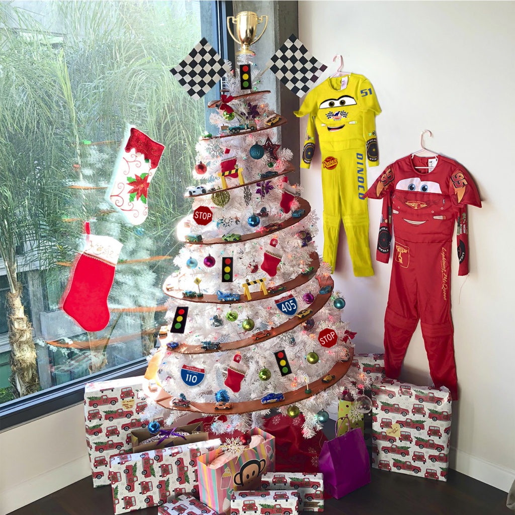 Disney Cars Christmas Tree.Our Christmas Tree Theme This Year Is Cars The Hustling