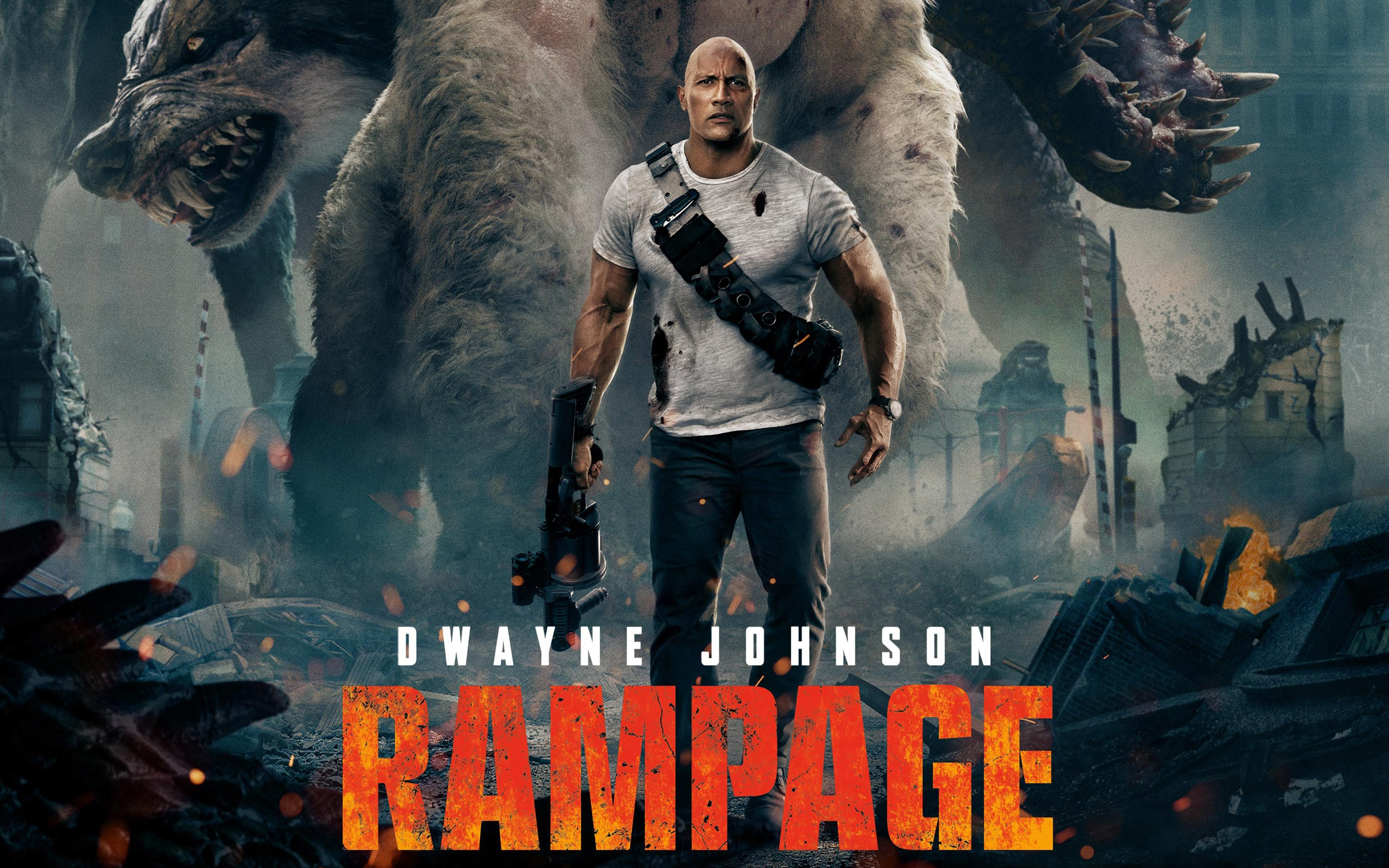 World Premiere Movie Review Of Rampage Starring Dwayne The